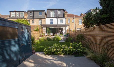 Avant/Après : Un jardin familial exposé sud au style contemporain