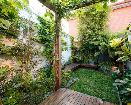Tropical Small Space Garden Home Design, Photos & Decor Ideas