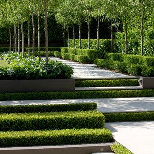 Foto de jardín francés, clásico renovado, extra grande, con exposición parcial al sol