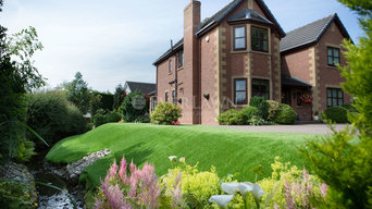 Front area features EverLawn® Pearl in this Garstang property, United Kingdom
