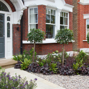 Modern Front Garden In London With A Garden Path.