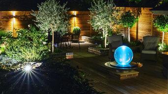 Garden lighting project in Cliveden