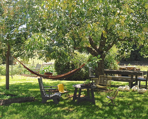 Backyard hammock houzz for Outdoor garden designers adelaide