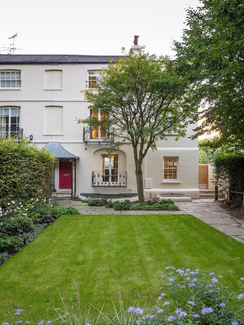 Design ideas for a medium sized contemporary front garden in London.