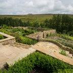 Circular Garden Rustic Landscape Hertfordshire By