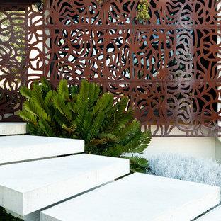 Jardin contemporain avec des pavés en brique : Photos et idées déco ...