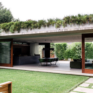 Design ideas for a huge modern full sun rooftop retaining wall landscape in Sydney.
