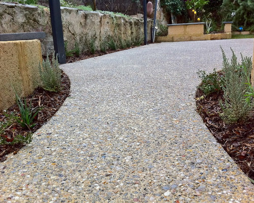 Exposed Aggregate Walkway Houzz
