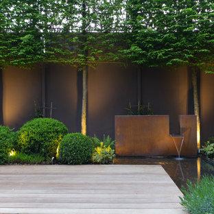 Ispirazione per un giardino minimal con fontane e pedane