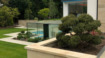 Large contemporary garden in Hale, Cheshire