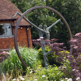 Ispirazione per un ampio giardino stile shabby