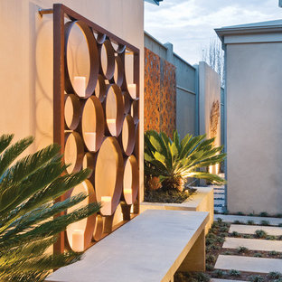 Inspiration for a small contemporary courtyard landscaping in Melbourne.