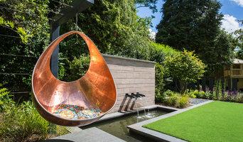 Modern Family Garden, Hale, Cheshire