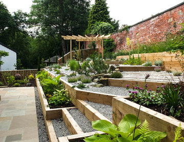Modern Garden with a rustic twist