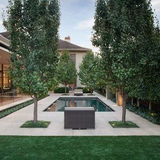 Réalisation d'un jardin arrière minimaliste.