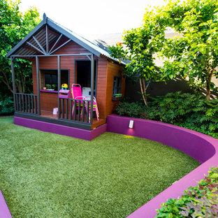 Foto på en liten funkis trädgård