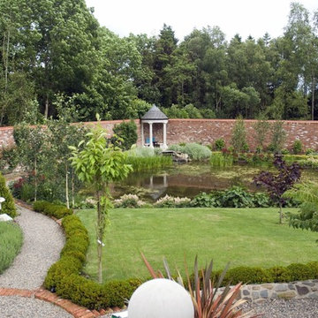 New Walled Garden & Stone Folly with Glazed Lantern complete Country Home