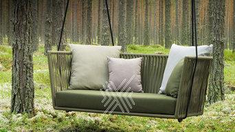 Outdoor Wood & Metal Furniture, Garden Umbrella, Outdoor Furniture