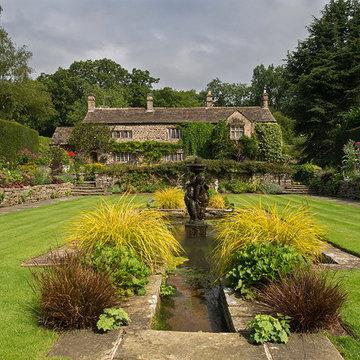 Planting design.  English country garden, Ilkley, West Yorkshire.