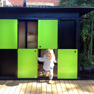 Photo of a small modern outdoor playset in Melbourne.