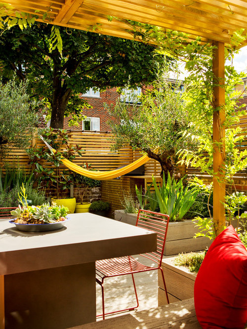 This Is An Example Of A Mediterranean Garden In London.