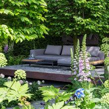 ガーデンツアー:都会生活に癒やしとくつろぎをもたらすサンクンガーデン