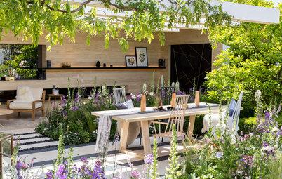 Scandinavian Style in a Pretty Cottage Garden