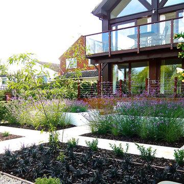 Riverside garden near Henley on Thames