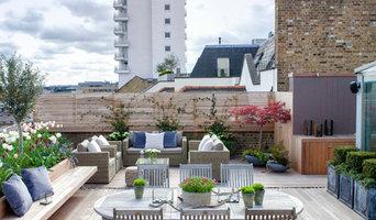 Roof terrace near Tower Bridge, London