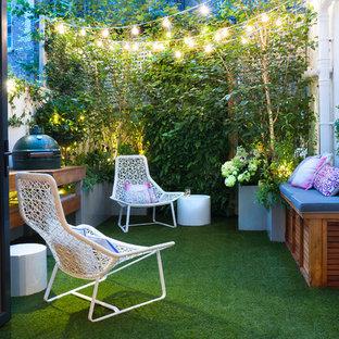 Aménagement d'un petit jardin vertical arrière contemporain.