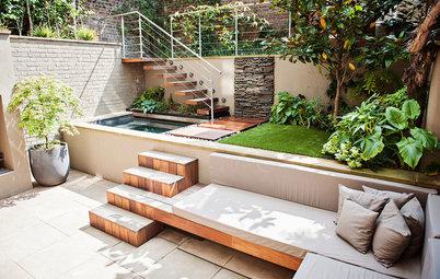 Планировка: Как обустроить маленький задний двор