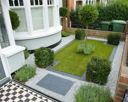 Front garden houzz for Modern garden designs for front of house