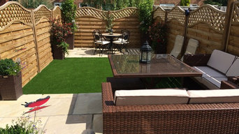 Small garden landscaping in Sussex
