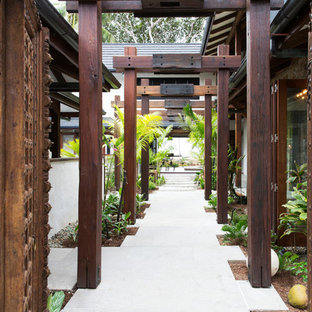 Design ideas for a tropical courtyard garden in Cairns.