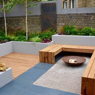Idéer för små funkis bakgårdar i delvis sol