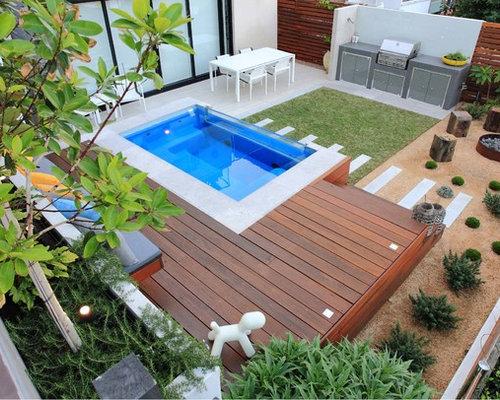 Moderner Hanggarten Mit Feuerstelle - Ideen Für Die ... Eine Feuerstelle Am Pool