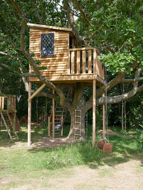 this is an example of a rustic outdoor playset in west midlands