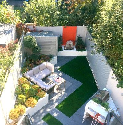 コンテンポラリー 庭 by Georgia Lindsay Garden Design