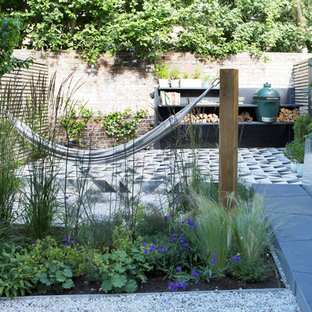 Design Ideas For A Small Contemporary Back Xeriscape Full Sun Garden For  Spring In London With