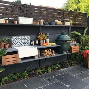 Exempel på en exotisk trädgård