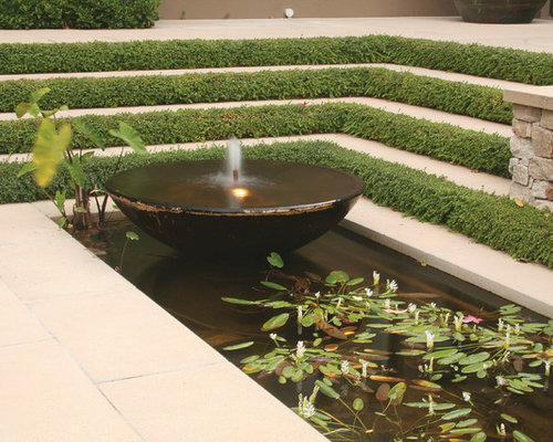 Rain water harvesting pond houzz for Design of water harvesting pond
