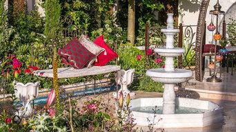 Turkish Garden Of Paradise Show Garden at Hampton Court Flower Show 2015