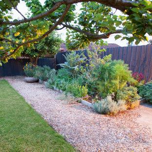 大きい、春のコンテンポラリースタイルのおしゃれな庭 (日向、マルチング舗装) の写真
