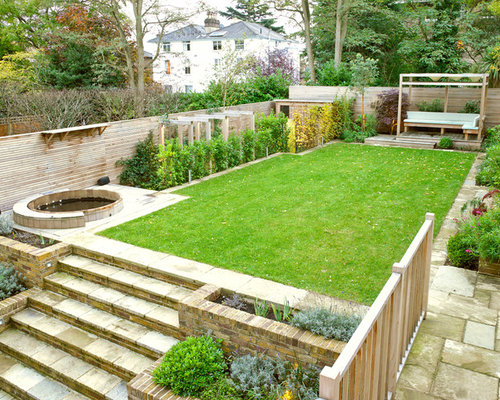 This Is An Example Of A Transitional Backyard Vegetable Garden Landscape In  London.