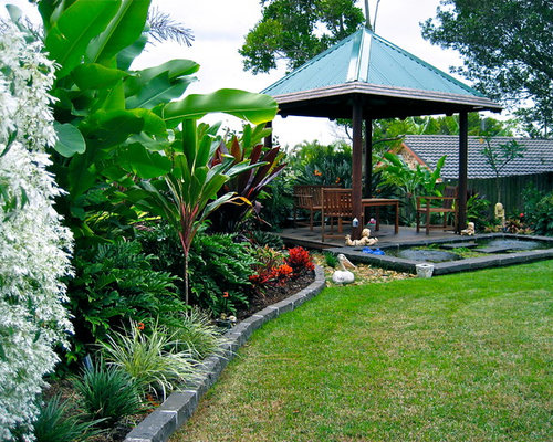 this is an example of a tropical full sun garden in brisbane