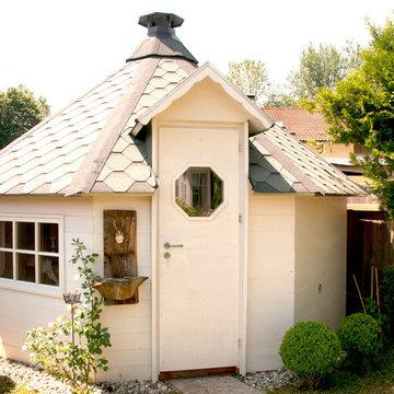 KOTA   kombinierte Sauna-/Grillhütte für Privat und Hotellerie