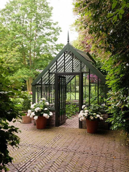 Gartenhaus ideen design bilder houzz - Gartenhaus ideen ...