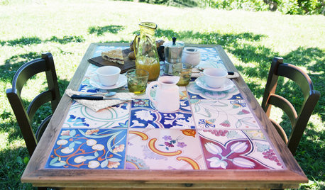 Своими руками: Как выложить стол плиткой