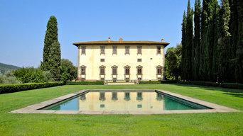 Giardino e piscina di Villa I Collazzi