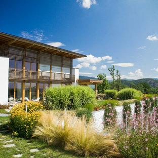 Immagine di un giardino mediterraneo dietro casa